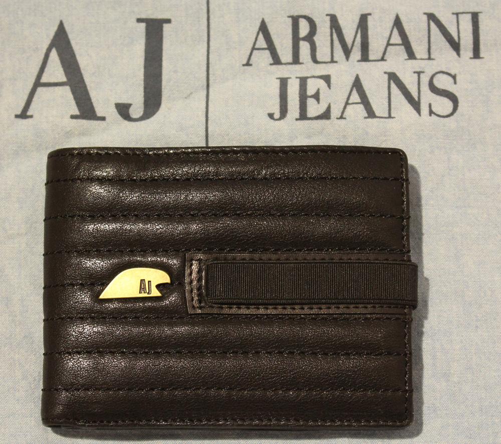 Aj Armani Jeans Portafoglio Uomo Con Porta Carta Di