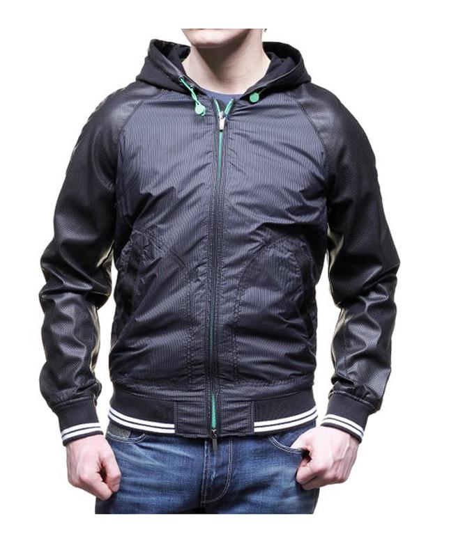 best website d9fab b15c5 AJ - Armani Jeans BLOUSON IN NYLON E PELLE DI AGNELLO ...