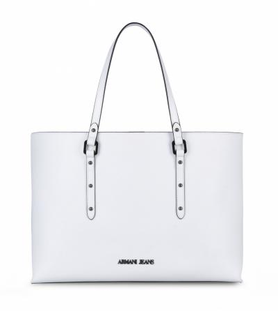 BORSA SHOPPER SIMILPELLE INTERNO A RIGHE