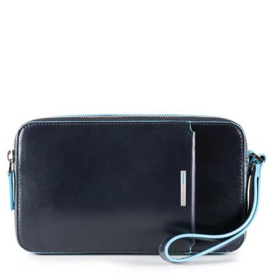 Pochette in pellerosso Blue Square